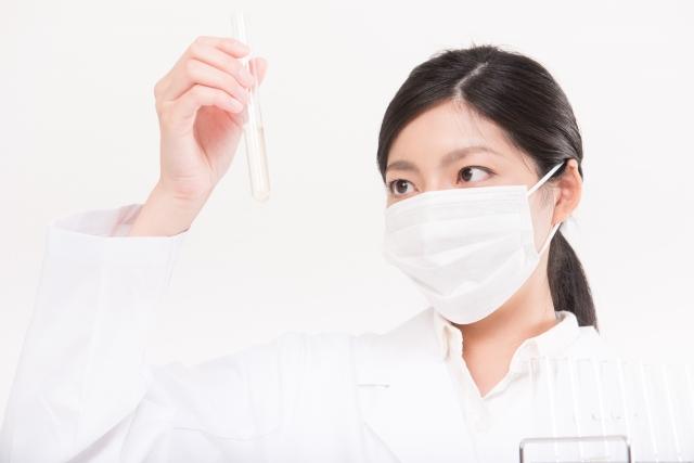 研究所 試験管 白衣