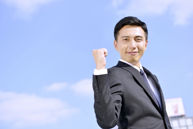 ビジネスマン 青空