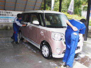 キーパー秩父 洗車の様子